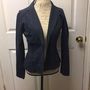 Eddie Bauer fitted Cotton navy blazer Small